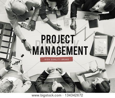 Project Progress Business Management Plan Concept