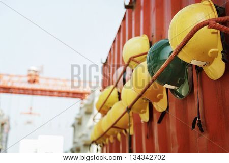 Hardhat Helmet Safety Architect Plan Construction Concept