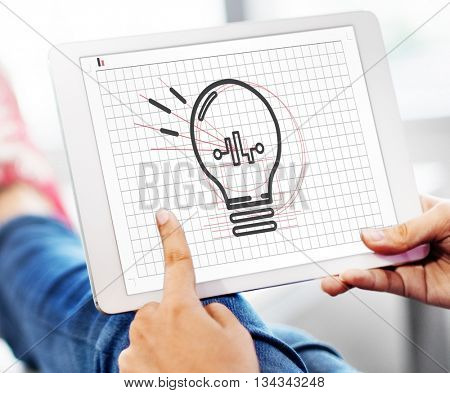 Bulb Ideas Action Vision Thoughts Objective Concept