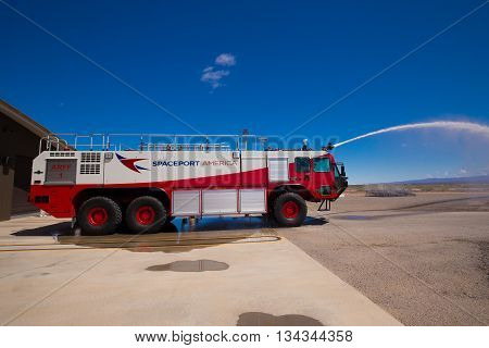 USA/NEW MEXICO, 20 May 2016. Spaceport America. Virgin Galactic. SpaceX. Editorial only.