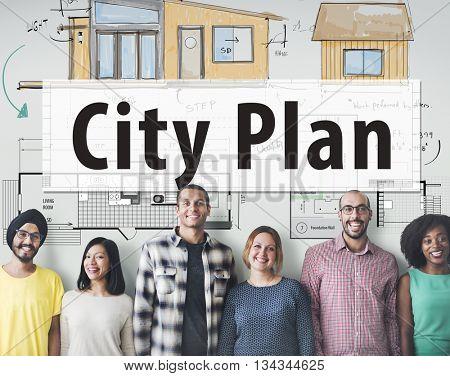 City Plan Plan SKetch Blueprint Design Concept