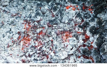 Background Of Smouldering Charcoal