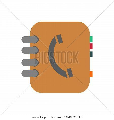 Phone book illustration. Contacts. Address book. Vector illustration
