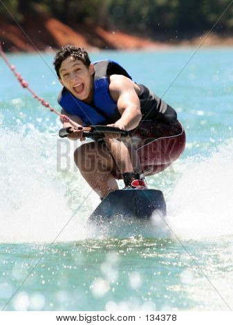 Boy Wakeboarding
