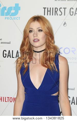 LOS ANGELES - JUN 13:  Katherine McNamara at the 7th Annual Thirst Gala at the Beverly Hilton Hotel on June 13, 2016 in Beverly Hills, CA