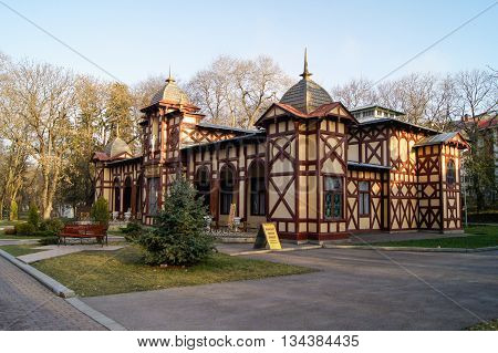 Kislovodsk, Russia - 28 February, Wellness House mechano-therapy, 28 February, 2016. Resort zone Mineral Waters, Krasnodar region.