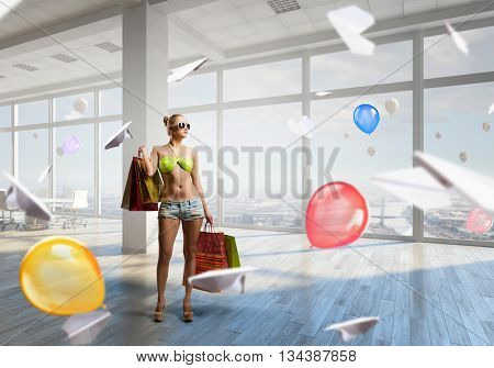 Summer shopping time