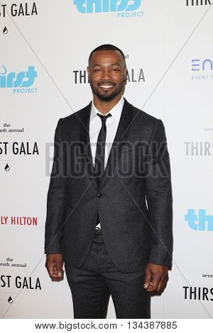 LOS ANGELES - JUN 13:  Isaiah Mustafa at the 7th Annual Thirst Gala at the Beverly Hilton Hotel on June 13, 2016 in Beverly Hills, CA
