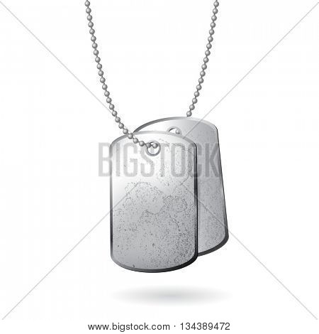 dog tag isolated on white background