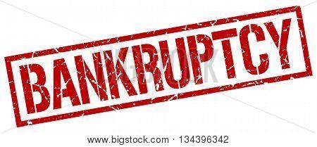 Bankruptcy Stamp. Vector. Stamp. Sign. Bankruptcy. Red.