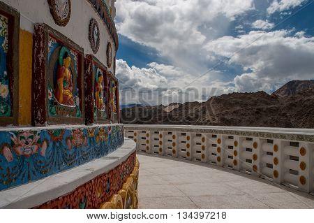 Sacred Shanti Stupa in Leh in Ladakh