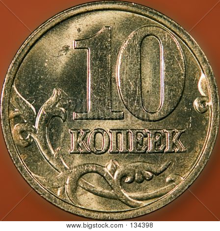 10 Copeeks Russian Coin