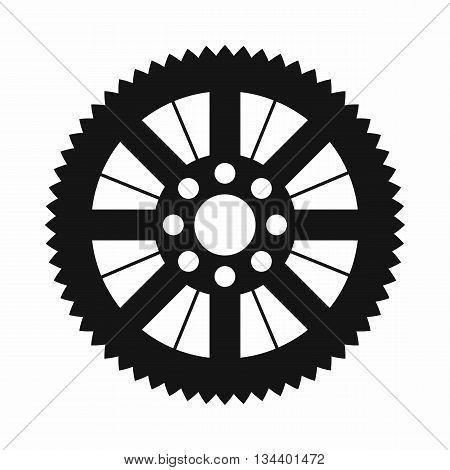 Sprocket from bike icon in simple style isolated on white background
