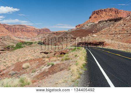 Desert view of central Utah, United State