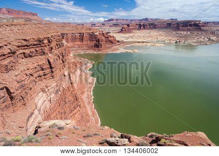 Hite Marina On Colorado River In Glen Canyon National Recreation  Area