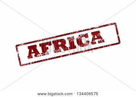 Africa red grunge vintage rubber stamp.Africa stamp.Africa stamp.Africa grunge stamp.Africa.