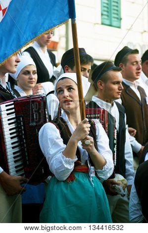Montenegro, Herceg Nov - 28/05/2016: Members of folklore ensemble