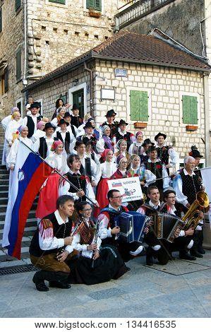 Montenegro, Herceg Nov - 28/05/2016: Folklore Ensemble