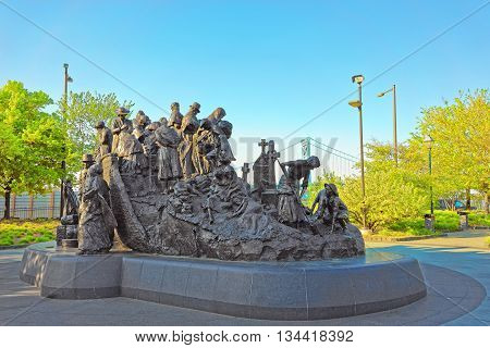Memorial To Irish Famine At Penn Landing In Philadelphia