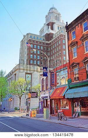 United States Custom House Viewed From 2Nd Street Of Philadelphia