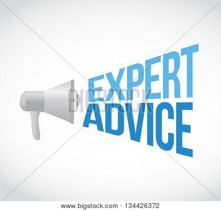 Expert Advice Megaphone Message