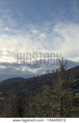 Magnificient Cloudscape In Black Forest, Baden-wurttemberg, Germany