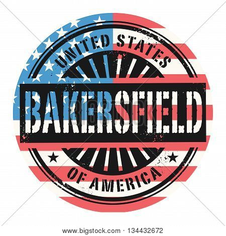 Grunge rubber stamp with the text United States of America, Bakersfield, vector illustration