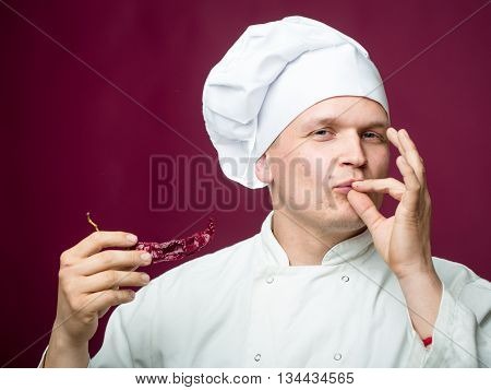 Chef With Chili Pepper