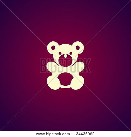 Teddy Bear Plush Toy Flat Icon
