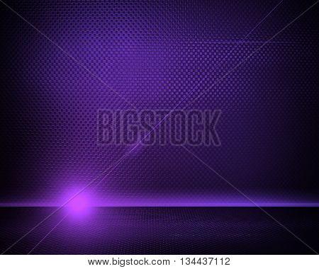 purple metal interior with lighting background