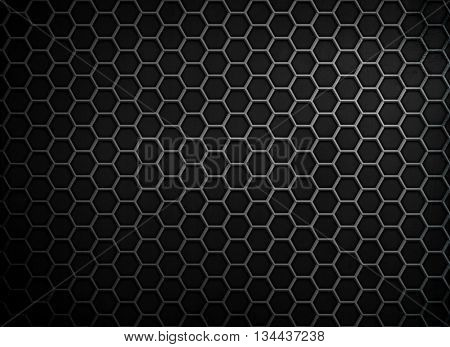 black Honeycomb metal background