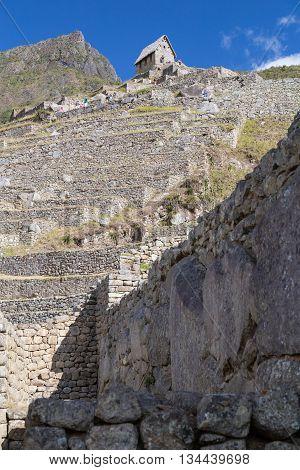 Terraces And Old Ruin In Machu Picchu, City Of Incas In  Peru