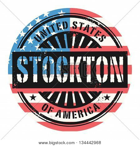 Grunge rubber stamp with the text United States of America, Stockton, vector illustration