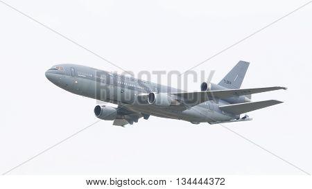 Leeuwarden, The Netherlands, June 10, 2016: Royal Dutch Air Force Mcdonnell Douglas Kdc-10-30Cf Duri