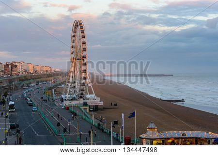 BRIGHTON, UK - CIRCA APRIL 2013: The Brighton Wheel on the seafront.