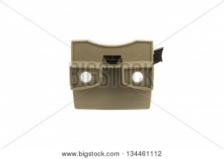 isolated portrait of a old stereoscopic viewer