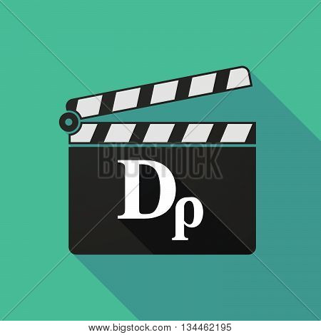 Long Shadow Clapperboard With A Drachma Currency Sign