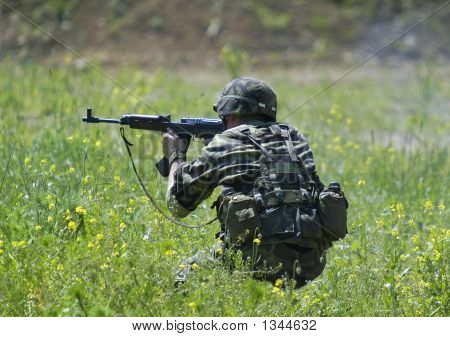 Soldier In Action