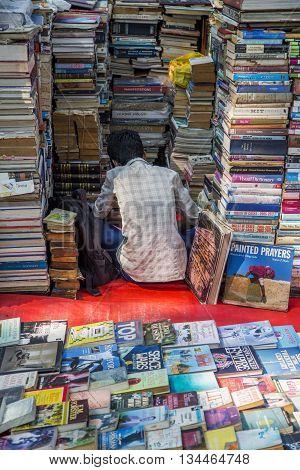 Vendor Of Books In Mumbai, India