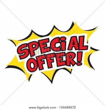special offer banner design. Vector illustration. Cartoon.