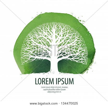 Tree logo. Nature, ecology icon Environment symbol vector