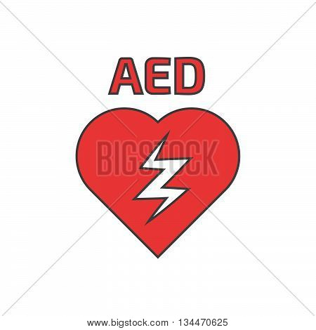 Defibrillator icon thin lines. Linear icon. Stock vector. Vector illustration.