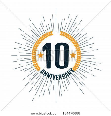 Anniversary 10 logo. Stock vector. Vector illustration.