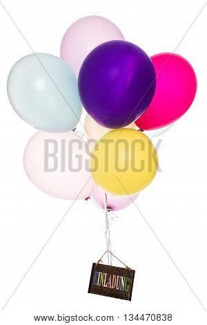 Colorful Balloon, Old Board With Text