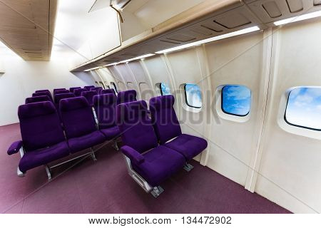 Aircraft Puple Seats
