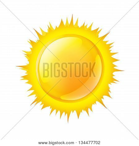 vector illustration of a sun on white