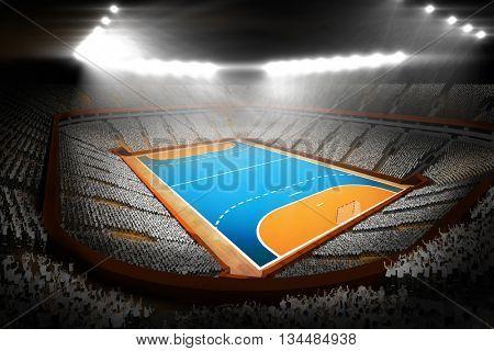 Image of handball field with spectators