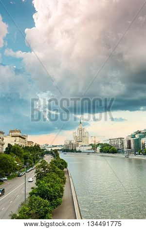 Moscow - russian capital infrastructure and architecture