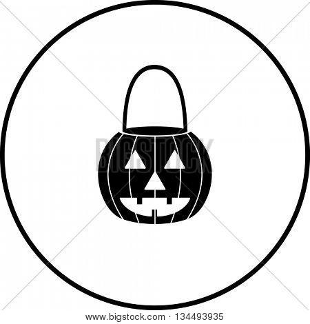 pumpkin jack o' lantern shaped pail