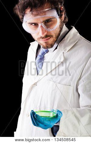 Biologist With A Petri Dish